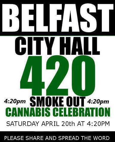 belfast city hall 420 cannabis celebration smoke out northern ireland