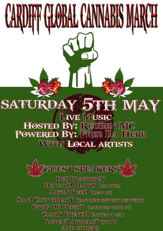 carfiff cannabis march 2012 wales