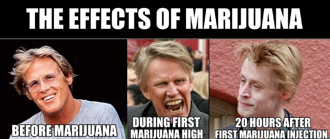 before and after injecting marijuana
