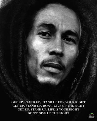 bob marley get up stand up cannabis poster