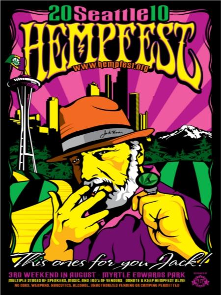 seattle hempfest 2010 jack herer harm reduction