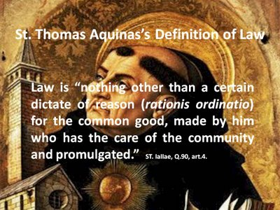 st  thomas definition of law