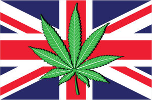 union jack cannabis leaf uk british britain