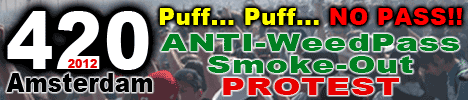 weed pass protest puff puff no pass amsterdam